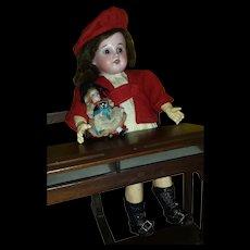 Beautiful Early Bleuette Doll Fleischmann 6/0 Original G.L Outfit..