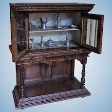 Lovely French Buffet Credence Furniture Style Renaissance for Fashion Dolls.