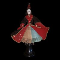 """15"""" 3/8 (39cm) Exceptional French Doll """"A BONNE AVENTURE"""" Fortune Teller luxurious original costume."""