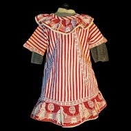 Beautiful French cotton Dress Apron For BEBE Jumeau
