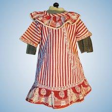 Beautiful French cotton Dress Apron For BEBE Jumeau