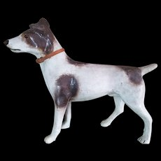 Interesting and uncommun Jack Russel Dog Paper Mache.