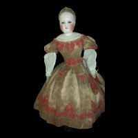Beautiful All original French Fashion doll CRUCHET Neck system for Eugene Barrois size 3.