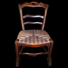 Beautiful & Amazing quality French Chair Made of Walnut for Doll.