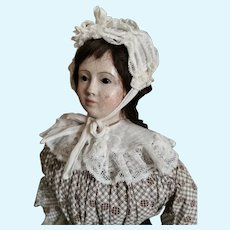 Beautiful Servant Maid German paper mache Doll Pauline for the French Market.