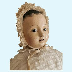 French Papier mache Doll in original Costume.
