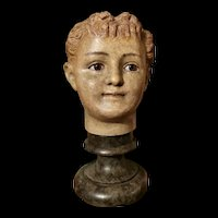 Beautiful & Rare small mannequin Head for presentation Doll Hat.