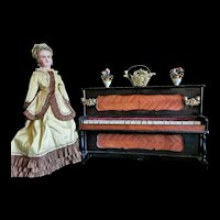 Interesting Piano for Fashion Doll in the manner of Giroux.