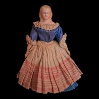 """8"""" 4/8 (21cm) Lovely German doll for dollhouse  original dress."""