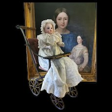 """18"""" 1/8 (46 cm) Adorable Early Steiner Gigotteur jiggling Doll."""