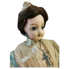 French Fashion Smilling Doll original costume Arlesien.