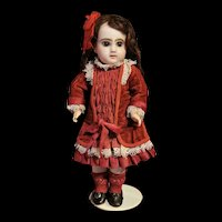 """11 """" (28cm) Adorable Closed Mouth Jumeau in a Tiny Size 2."""