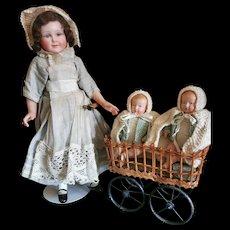 Adorable Nurse & BEBE Celluloid Petitcolin