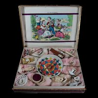 "Wonderful antique French Lottery game for children loterie "" Au Paradis des enfants """