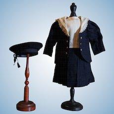 Wonderful antique Jumeau sailor costume
