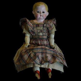 Beautiful German Doll Wax-over Papier-mâche.