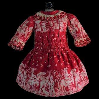 Wonderful French cotton dress From Maison Jumeau