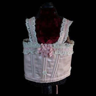 Lovely French Pink Corset for Bebe Jumeau size 4-5