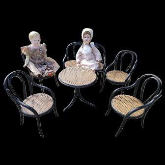 Wonderful & Rare Set Thonet bentwood doll Salon