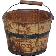Rare Antique Shaker Seed Pail.  Great original decoration with no restoration.