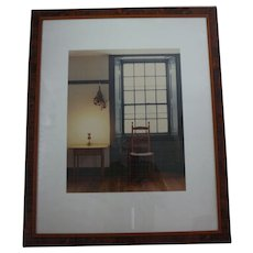 Limited edition (#38/250) large format color photograph of a room at the Shaker village in Pleasant Hill Kentucky c. 1995