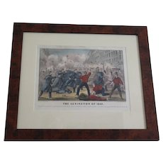 """Currier & Ives  """"The Lexington of 1861"""" bright hand colored lithograph; Civil War period"""