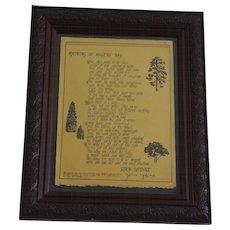 "John Updike poetry broadside ""Raining at Magens Bay"".  Signed limited edition (#53/200) 1976."