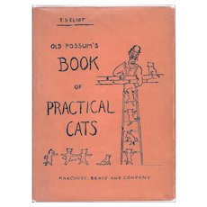 Old Possum's Book of Practical Cats by TS Eliot First American Edition (1939)