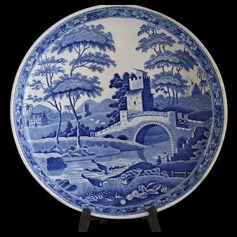 Antique Staffordshire Stilton Cheese Platter on Stand