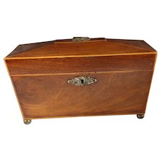19th c. Mahogany Tea Caddy