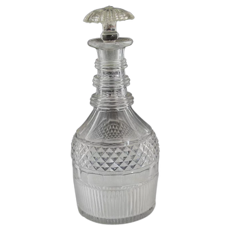 Antique 18th-early 19th c. Blown and Cut decanter