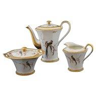 "Limoges 3 Piece Tea Service ""Eden"" Pattern"