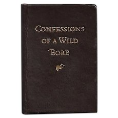 "Miniature Book ""Confessions of a Wild Bore"" by John Updike"
