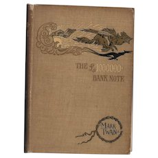 The  1000000 Pound Bank Note by Mark Twain (First American Edition)