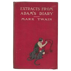 Extracts From Adam's Diary by Mark Twain (First Edition)
