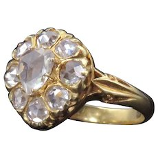 Gorgeous 18K Gold Rose-Cut Diamond Ring
