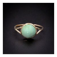 Antique Turquoise 14K Gold Early 20th Century Ring