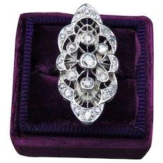 Diamond 0.61 cttw Platinum and 18k Yellow Gold Openwork Ring