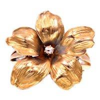 14k Gold Conversion Flower Diamond Ring