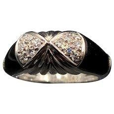 18K Diamond & Onyx Ring
