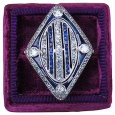 Art Deco 14k Gold and Platinum Ring