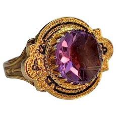 14K Victorian Amethyst Conversion Ring