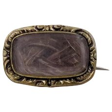 Lace Pin/Mourning Brooch with Hair Locket (Rolled Gold)