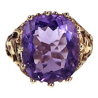 Antique 14K, 18K Amethyst Conversion Ring