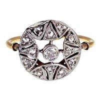 Art Deco 18K & Diamond Ring
