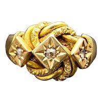 Antique English 18K Gold & Diamond Ring
