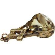 *Sunbreaker* Antique Victorian Freemason's Fob with Huge Citrine in 14K Gold