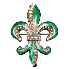 """""""The Lily of the Valley"""" Victorian Fleur-de-lis Brooch & Pendant"""