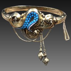 Wonderful Victorian 14K Gold Bracelet with Unusual Design, Just Gorgeous!