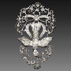 "*The Holy Spirit* Antique Georgian French ""Saint Esprit"" Brooch in Silver"